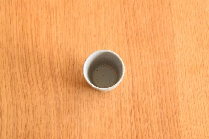 石川若彦|青湯呑 俯瞰・表