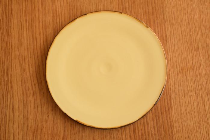 照井壮|プリン釉盤皿(7寸) 俯瞰・表