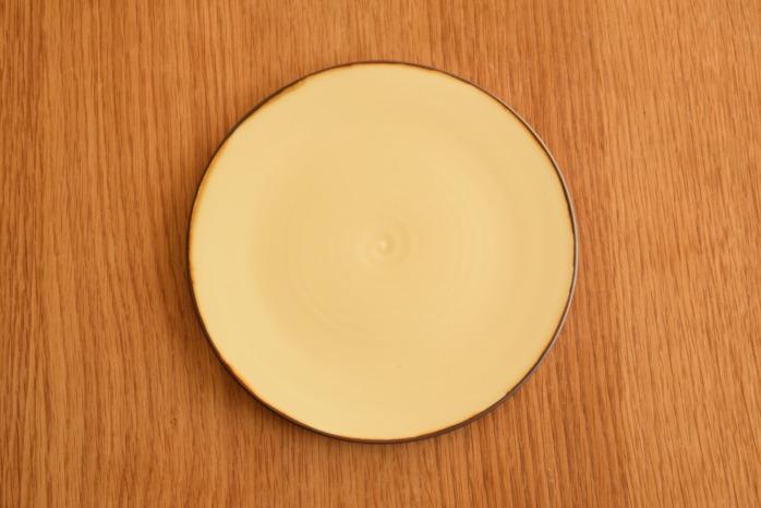 照井壮|プリン釉盤皿(6寸) 俯瞰・表