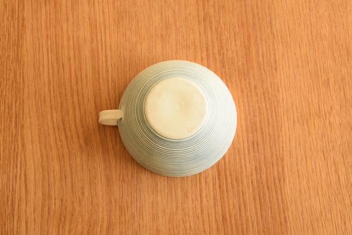 照井壮|青線刻スープ碗 俯瞰・裏