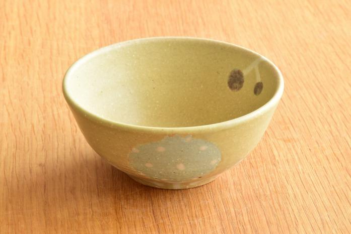 沖澤 真紀子|グリーンHana茶碗B 水平① 二人展の際の作品となります。