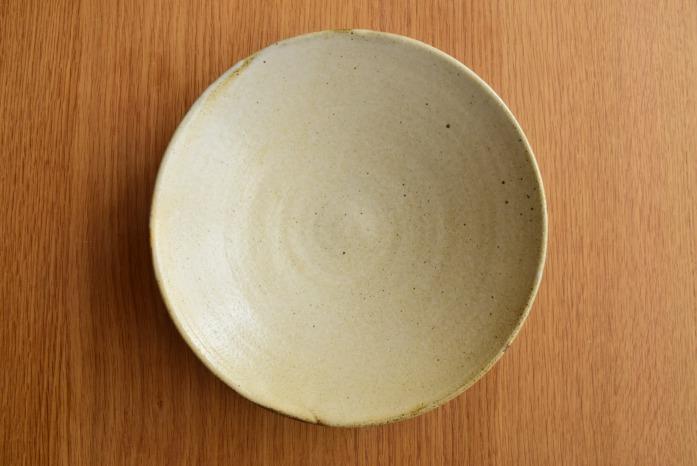 中村恵子|粉引鉢(7寸) 俯瞰・表