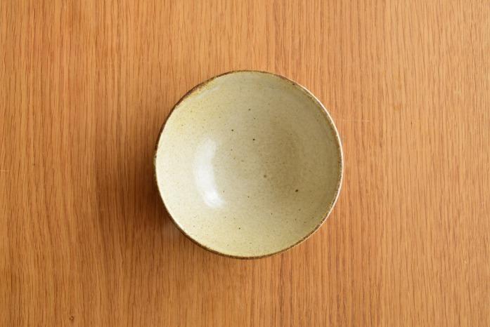 中村恵子|粉引飯椀(小) 俯瞰・表