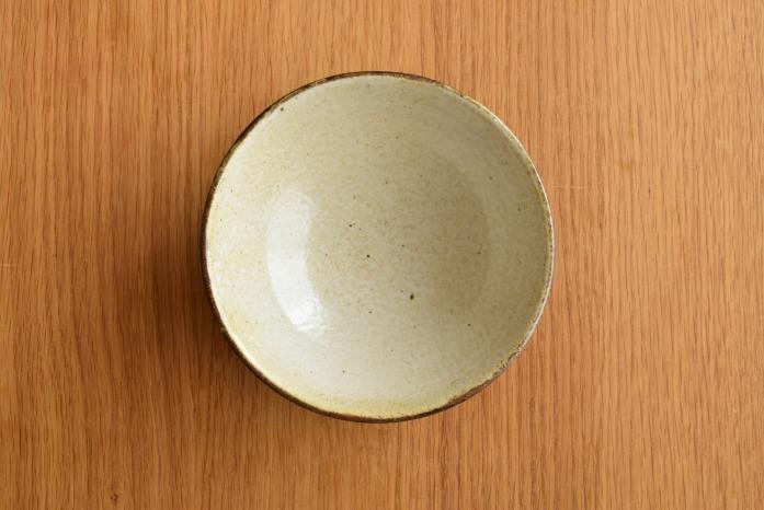 中村恵子|黒飯椀(大) 俯瞰・表