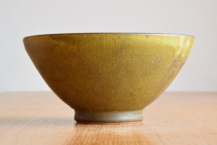 中村恵子|深緑丼鉢 水平