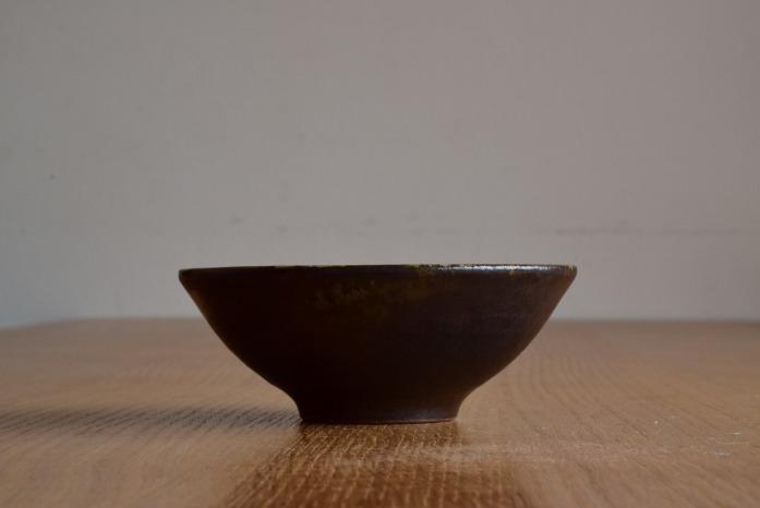 中村恵子|黒飯椀(大) 水平