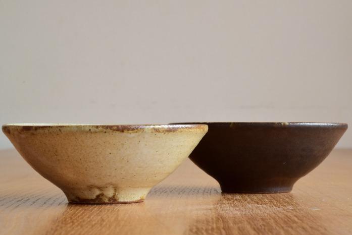 中村恵子|黒飯椀(大) 並べたところ