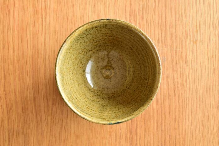中村恵子|インディゴ×黄カフェオレボウル 俯瞰・表