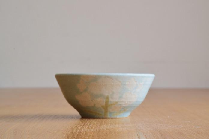 沖澤 真紀子|ブルーHana茶碗B 水平① 二人展の際の作品となります。