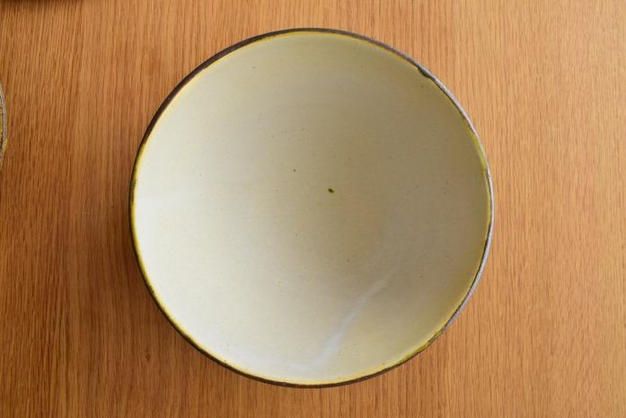 中村恵子|深緑丼鉢 俯瞰・表