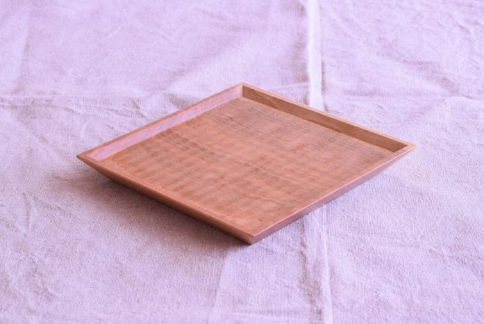 Semi-Aco 加賀雅之|5寸皿(オニグルミ) 正面 使い方は自由!あたたかい木の中皿