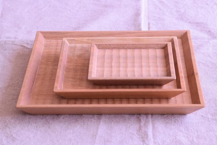 Semi-Aco 加賀雅之|7寸皿(オニグルミ) 大きさ違い