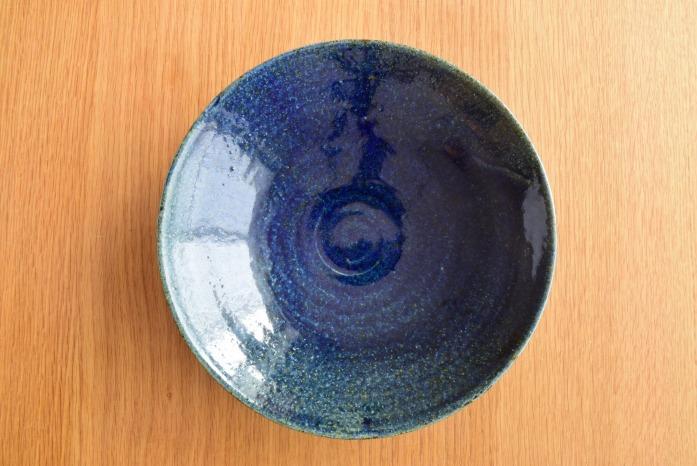 中村恵子|インディゴ鉢(7寸) 俯瞰・表