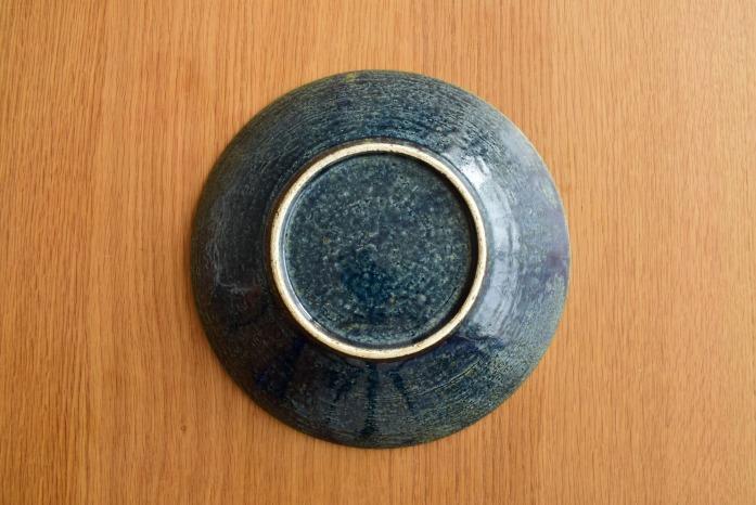 中村恵子|インディゴ鉢(7寸) 俯瞰・裏