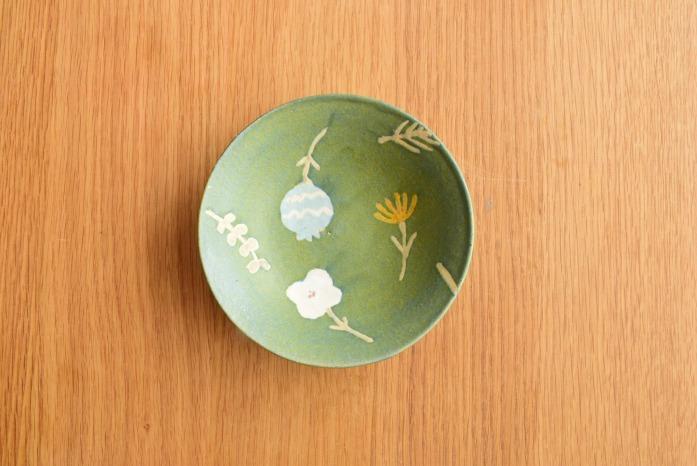 沖澤 真紀子|ブルーグリーンRondoボウル(S) 二人展の際の作品となります。