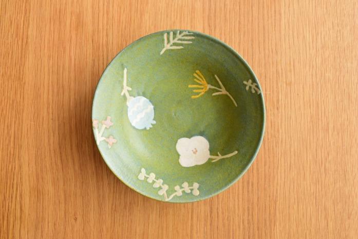 沖澤 真紀子|ブルーグリーンRondoボウル(M) 二人展の際の作品となります。