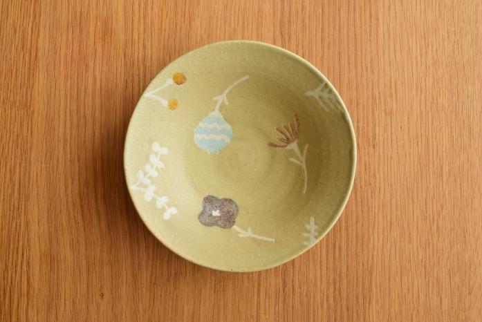 沖澤 真紀子|グリーンRondoボウル(M) 二人展の際の作品となります。