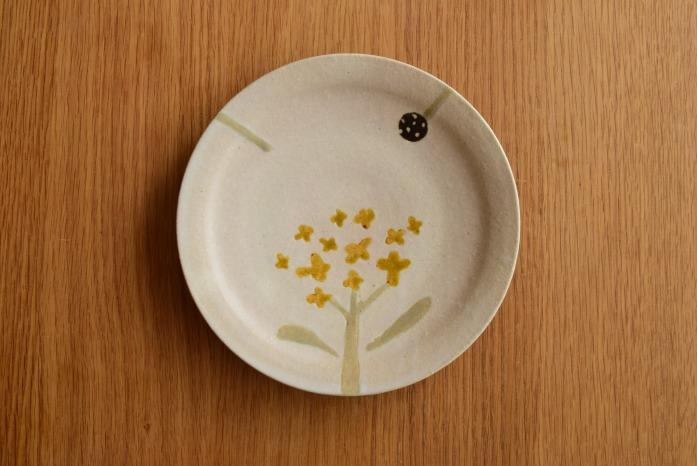 沖澤 真紀子|Hana皿(18cm)A hanaシリーズ、二人展の際の一点モノとなります。