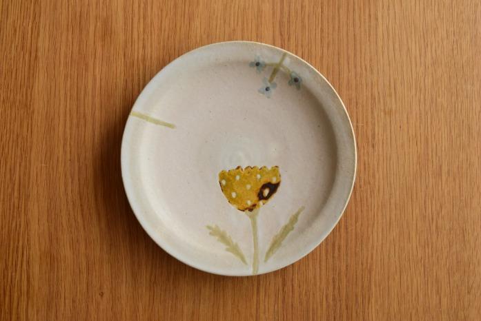 沖澤 真紀子|Hana皿(18cm)D hanaシリーズ、二人展の際の一点モノとなります。