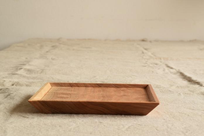 Semi-Aco 加賀雅之|5寸皿(オニグルミ) 水平