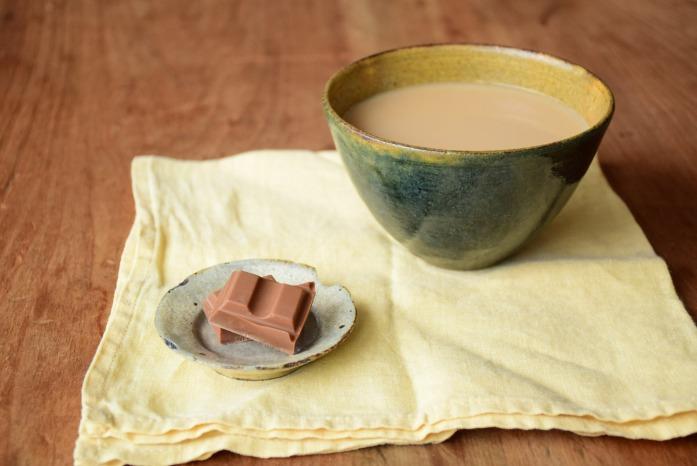 中村恵子|インディゴ×黄カフェオレボウル ミルクたっぷりのカフェオレを飲みたくなります。