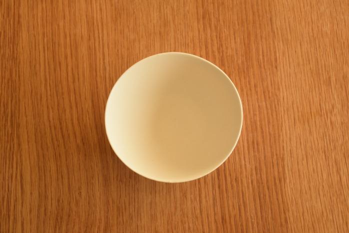 照井壮|粗磁土飯碗 俯瞰・表
