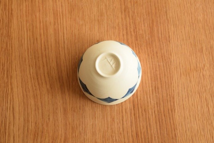 照井壮|ダイヤ紋ボウル鉢(小) 俯瞰・裏