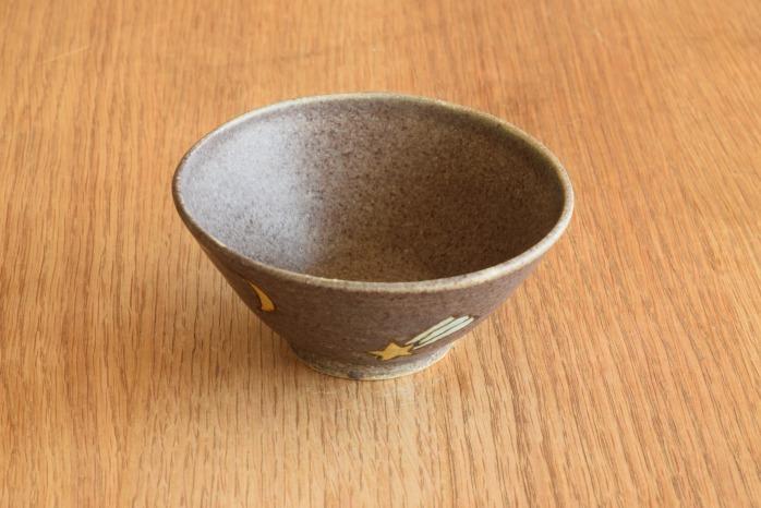 沖澤 真紀子|こども飯碗(パープル・流れ星) 個展の際の作品となります。