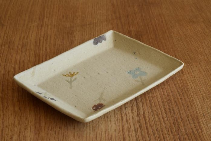 沖澤 真紀子|ホワイト長角皿