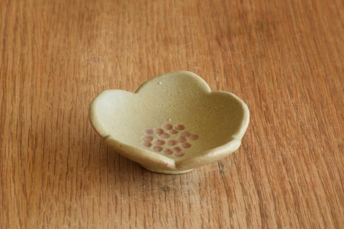 沖澤 真紀子|グリーン花型豆皿