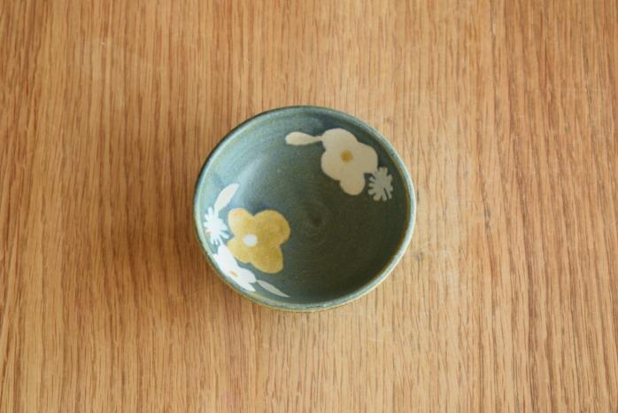 沖澤 真紀子|ブルーグリーン豆鉢 個展の際の作品となります。