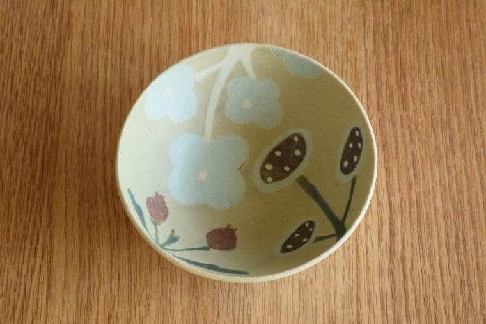 沖澤 真紀子|グリーンHana Bowl(S)B 個展の際の作品となります。