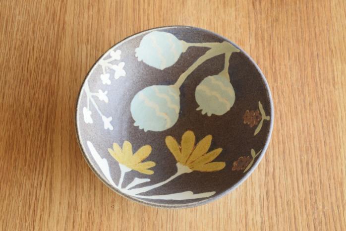 沖澤 真紀子|パープルHana Bowl(M)A 個展の際の作品となります。