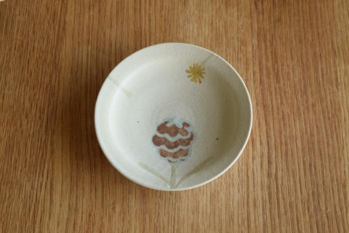 沖澤 真紀子|ホワイトHana皿(15cm)C