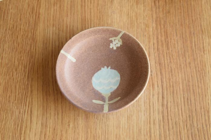 沖澤 真紀子|ピンクHana皿(15cm)A