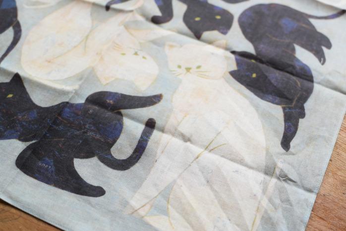 十布|ハンカチ(黒猫・白猫) 詳細①
