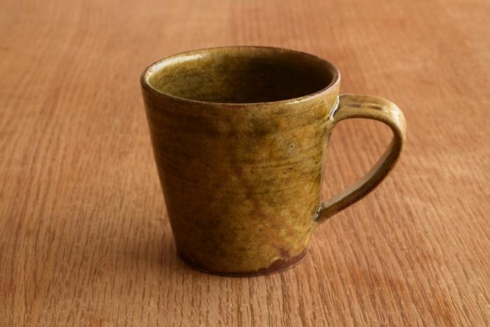 中村恵子|黄マグカップ たっぷり飲めるかっこいいマグカップです。