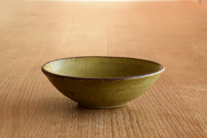 中村恵子|深緑小鉢 水平