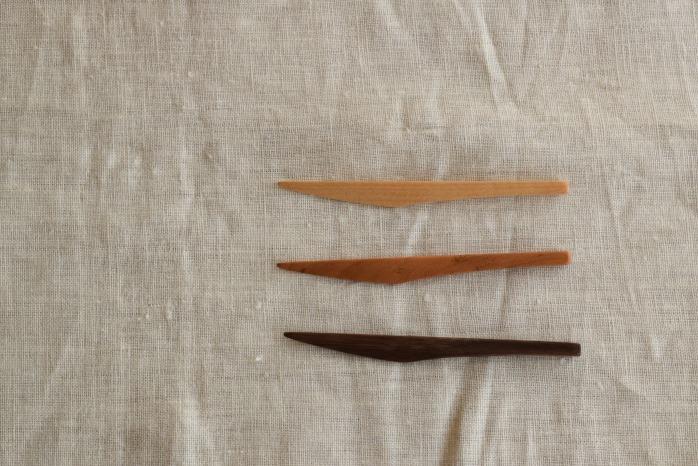 Semi-Aco 加賀雅之|菓子切(ウォールナット) 俯瞰・表
