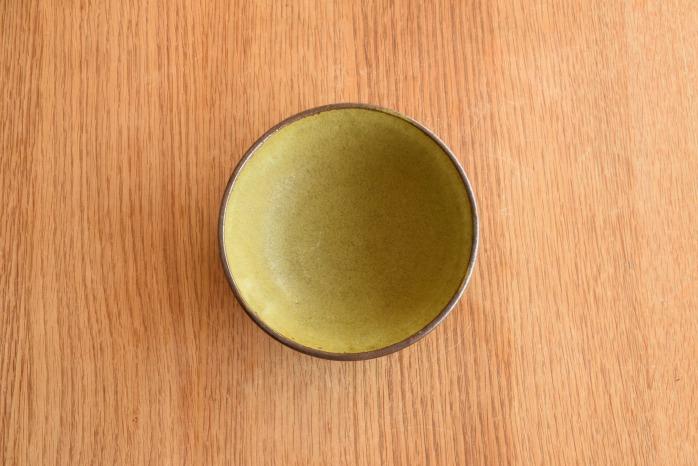 中村恵子|深緑小鉢 俯瞰・表