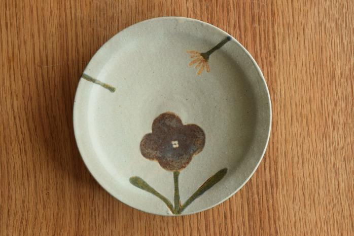 沖澤 真紀子|ブルーhana皿(18cm)