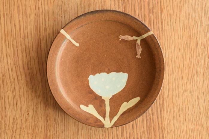沖澤 真紀子|茶hana皿(18cm)