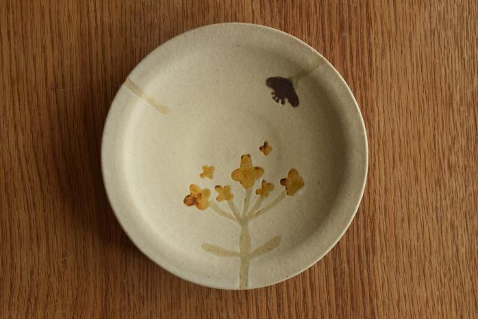沖澤 真紀子|ホワイトhana皿(18cm)