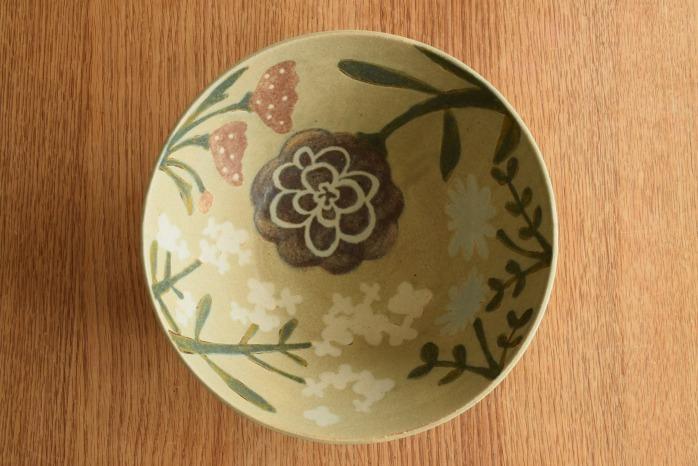 沖澤 真紀子|深大鉢(グリーン) 一点モノの大鉢です!