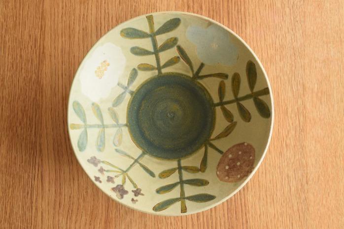 沖澤 真紀子|大鉢(インディゴ) 一点モノの大鉢です!