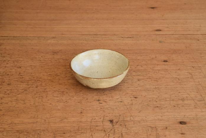 中村恵子|粉引バスク鉢(ミニ) 水平