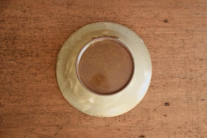 中村恵子|粉引スープ鉢 俯瞰・裏