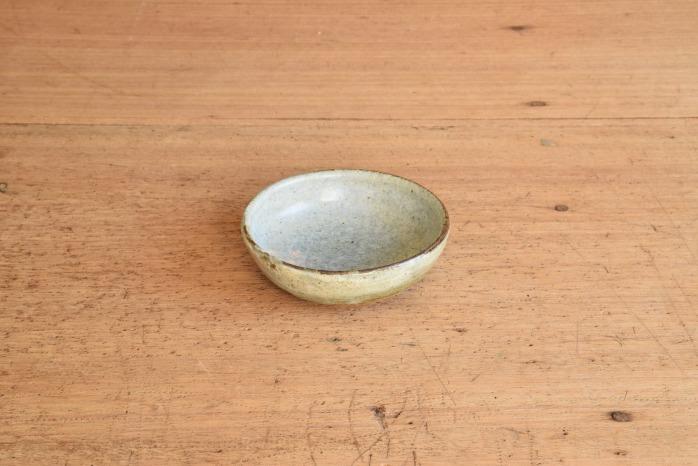中村恵子|青粉引バスク鉢(ミニ) 水平