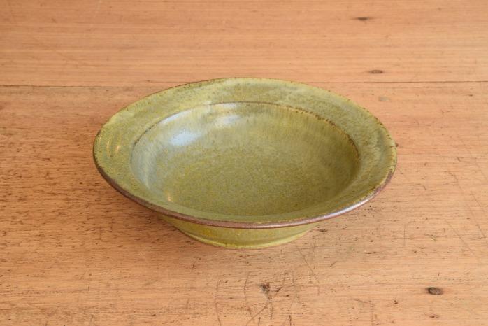 中村恵子|深緑スープ鉢 楕円のうつわはとても重宝
