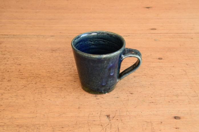 中村恵子|インディゴマグカップ たっぷり飲めるかっこいいマグカップです。